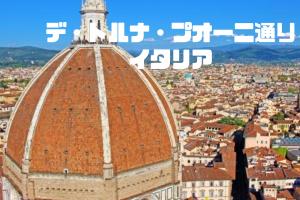 デ・トルナ・プオーニ通り|フィレンツェ|イタリア【金運スポット】